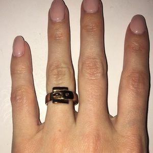 Rose Gold Michael Kors Buckle Ring
